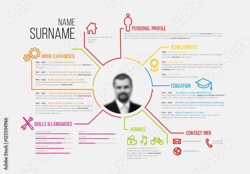 Resume Layout Landscape 2 Buy this stock template and explore