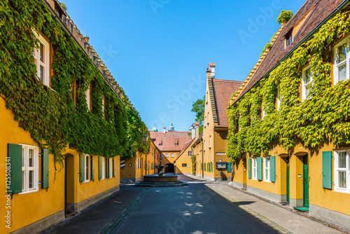 Fuggerei - the world oldest social housing, Augsburg, Germany Canvas Print