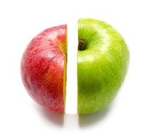 The Creative Apple Combined From Two Half