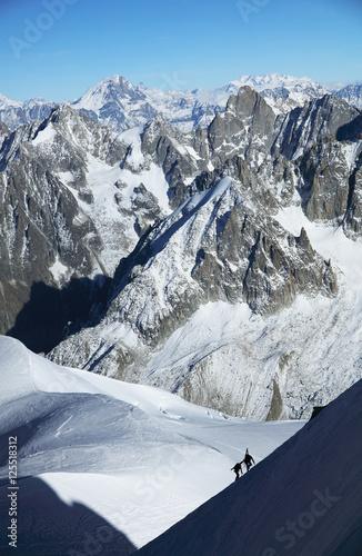 Fotobehang Gletsjers Alpine landscape in Haute Savoie, France, Europe