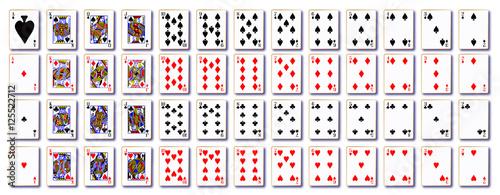 Fotografie, Obraz Pack of Cards On White