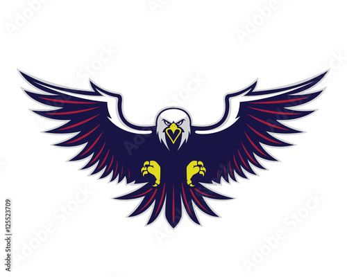 Photographie Flying eagle mascot
