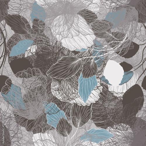 Naklejki witrażowe bezszwowy-abstrakcjonistyczny-kwiecisty-wzor