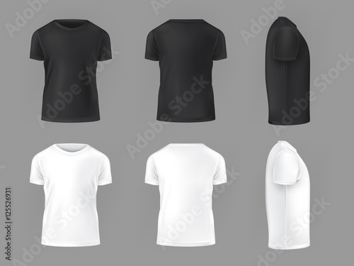 Fotografia Vector set template of male T-shirts