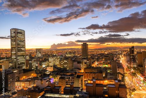 Photo Bogota, Colombia at Dusk