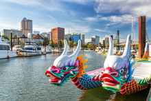 Dragon Boats And Downtown Port...
