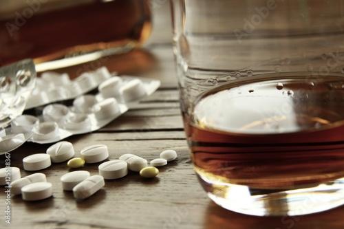Poster de jardin Bar tabletten alkohol cocktail I