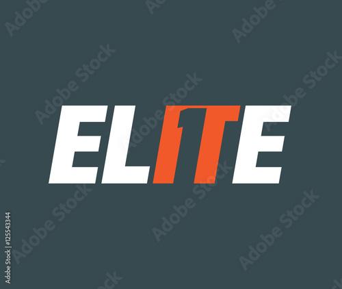 Elite Logo concept Wallpaper Mural