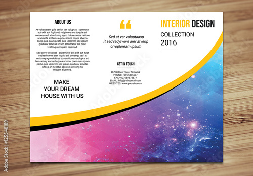 Interior Design Brochure Layout Buy This Stock Template And Explore