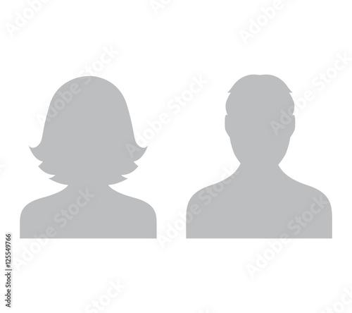 Fototapeta Grey Avatar Set obraz