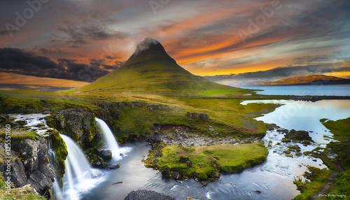 Fotobehang Landschap Iceland