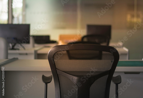Soft Focus And Low Key Black Chair On Blurred Background Modern