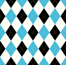Seamless Argyle Pattern. Blue,...