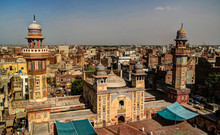 Panorama Of Wazir Khan Mosque, Lahore, Pakistan