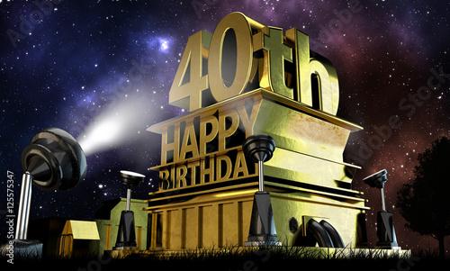 Fotografia  40. Geburtstag