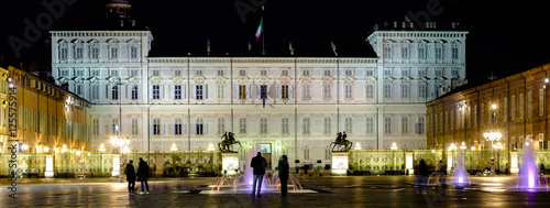 The royal palace in Piazza castello. turin, Italy