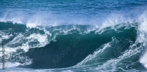 Stickers pour porte ocean wave breaking