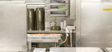 Pizza Prep Area In Commercial Kitchen