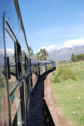 Fotografie, Obraz  Peru train through the Sacred Valley