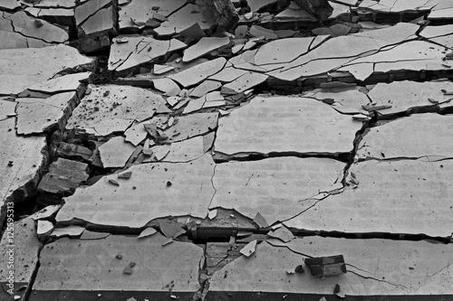 Zdjęcie XXL Złamane ściany tło