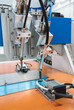 robot drill machine tool at mobile industrial manufacture factor