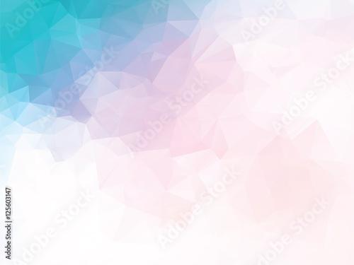 pink blue geometric background Canvas Print