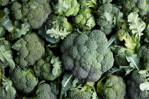 Fresh broccoli background