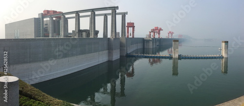 Foto op Aluminium Dam Three Gorges Dam upstream side