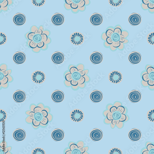 Keuken foto achterwand Vlinders in Grunge Abstract flower seamless pattern background.