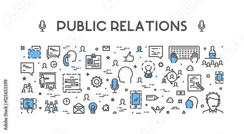 Foto  Line web concept for public relations