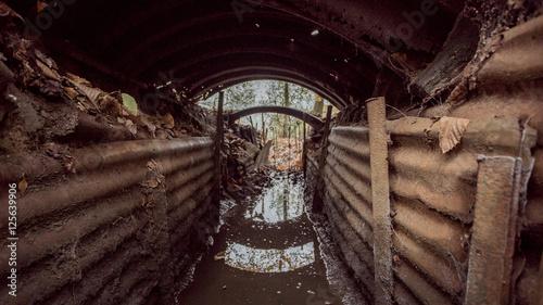 Obraz na płótnie Image 3-First world war trench, Hill 62 Belgium