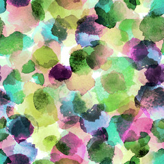 Naklejka Watercolor abstract seamless pattern