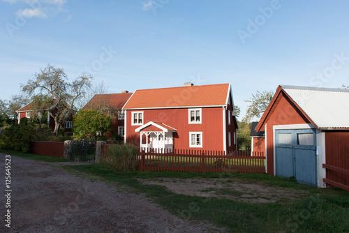 Photo  Dorf Bullerbü- Bullerbyn Schweden