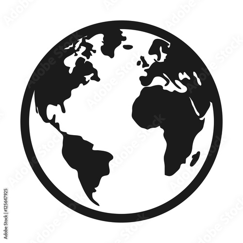 world planet earth isolated icon vector illustration design Fototapet