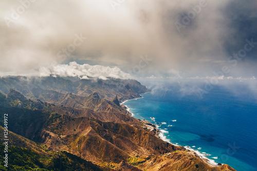 Printed kitchen splashbacks Canary Islands Anaga mountains view from Mirador Cabezo del Tejo, Tenerife island, Spain