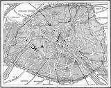 Map of Paris, France. - 125654366