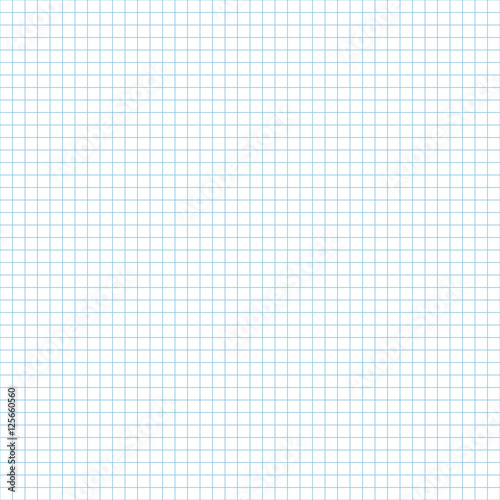 Seamless Pattern Of School Notebook Paper Sheet Exercise Book Page Endless Background Squared Notepad