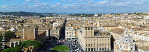 Photo  Panoramic view on Rome, Italy from Vittorio Emanuele, Piazza Venezia