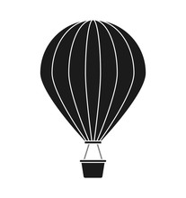 Hot Air Balloon Vehicle Icon. Transportation Travel And Trip Theme. Isolated Design. Vector Illustration