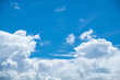 White cloud in blue sky background