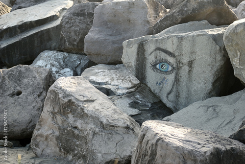Plakat Westport Washington Jetty Rock Art