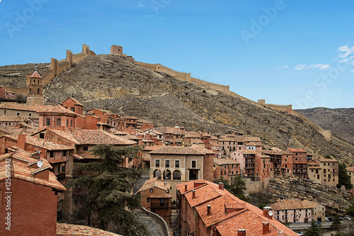 village of albarracin in teruel Spain