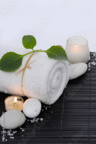 Poster Spa Spa treatment on mat