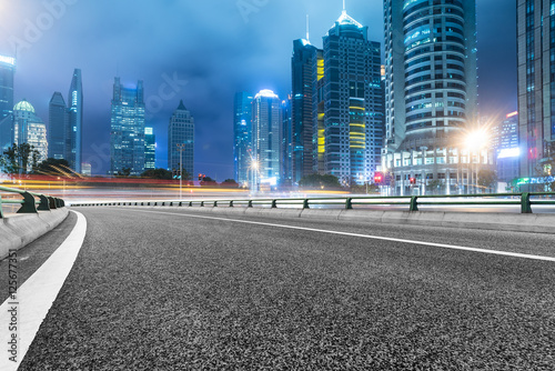 Keuken foto achterwand Nacht snelweg Inner City highway in China.