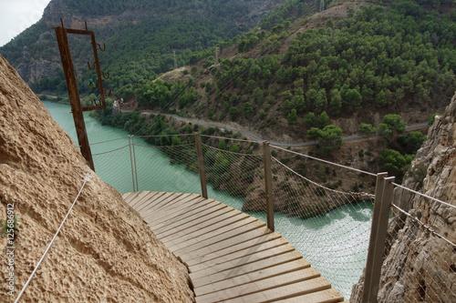 Photo  El Caminito del Rey footpath over water