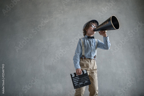 Photo  Boy with a megaphone