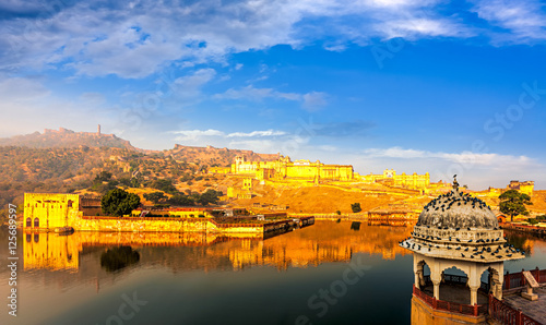 Poster Vestingwerk Amber Fort, Rajasthan, India