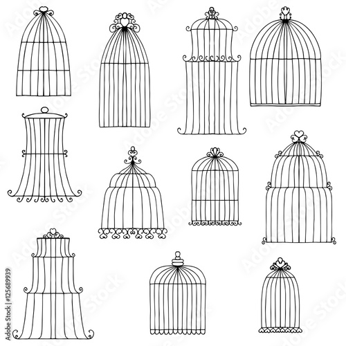 Photo vector bird's cages