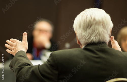 Valokuva  gesturing hands at business meeting