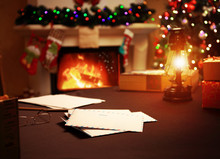 Letter To Santa Claus Near The...